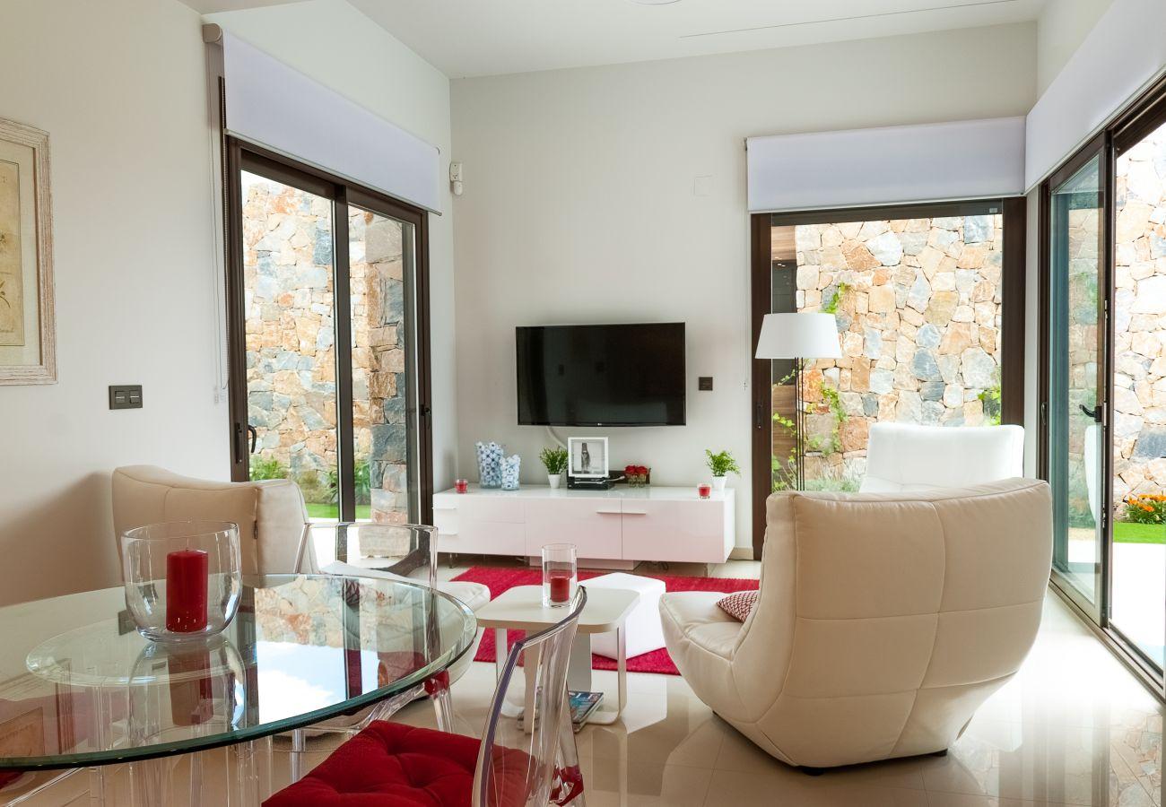 Zapholiday  –  3019  -  villa Algorfa, Alicante - Wohnzimmer